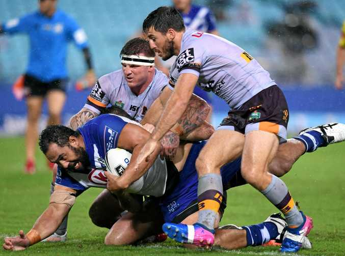 RESTED: Bronco Josh McGuire (centre) has been rested after Orign duty.