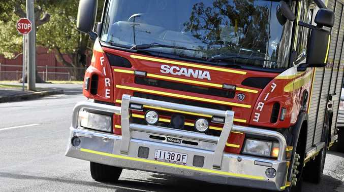 Multiple Queensland Fire and Emergency Service units are on scene.