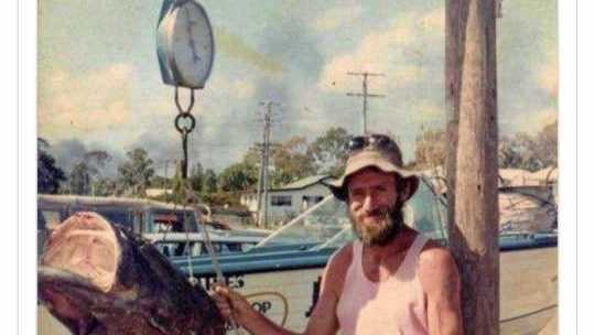 Bradley James Martin's dad and his cod caught off the Urangan Pier mid 80's.