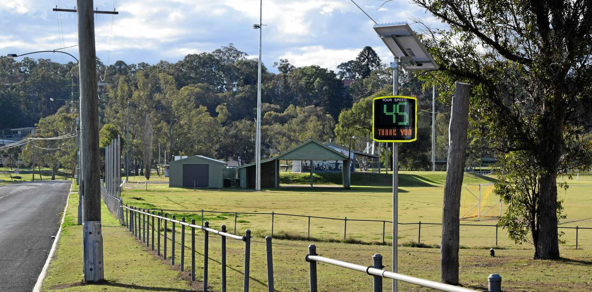 Speed indicator signs have been erected along Park Road.