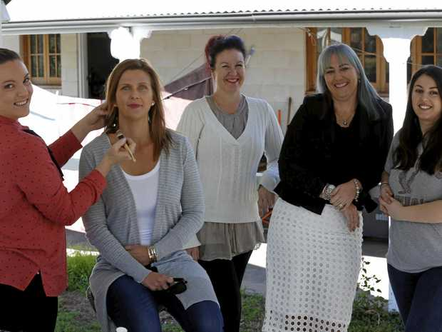 HUSH IT OUT LOUD: Gympie's most famous stay-at-home-mum, Jody Allen (third from left) is leading Gympie women in taking Hush Puppies to the nation, with the help of Krystal Prisk, Natalie Bostock, Louise Armstrong and Jamie Kouktzelas.