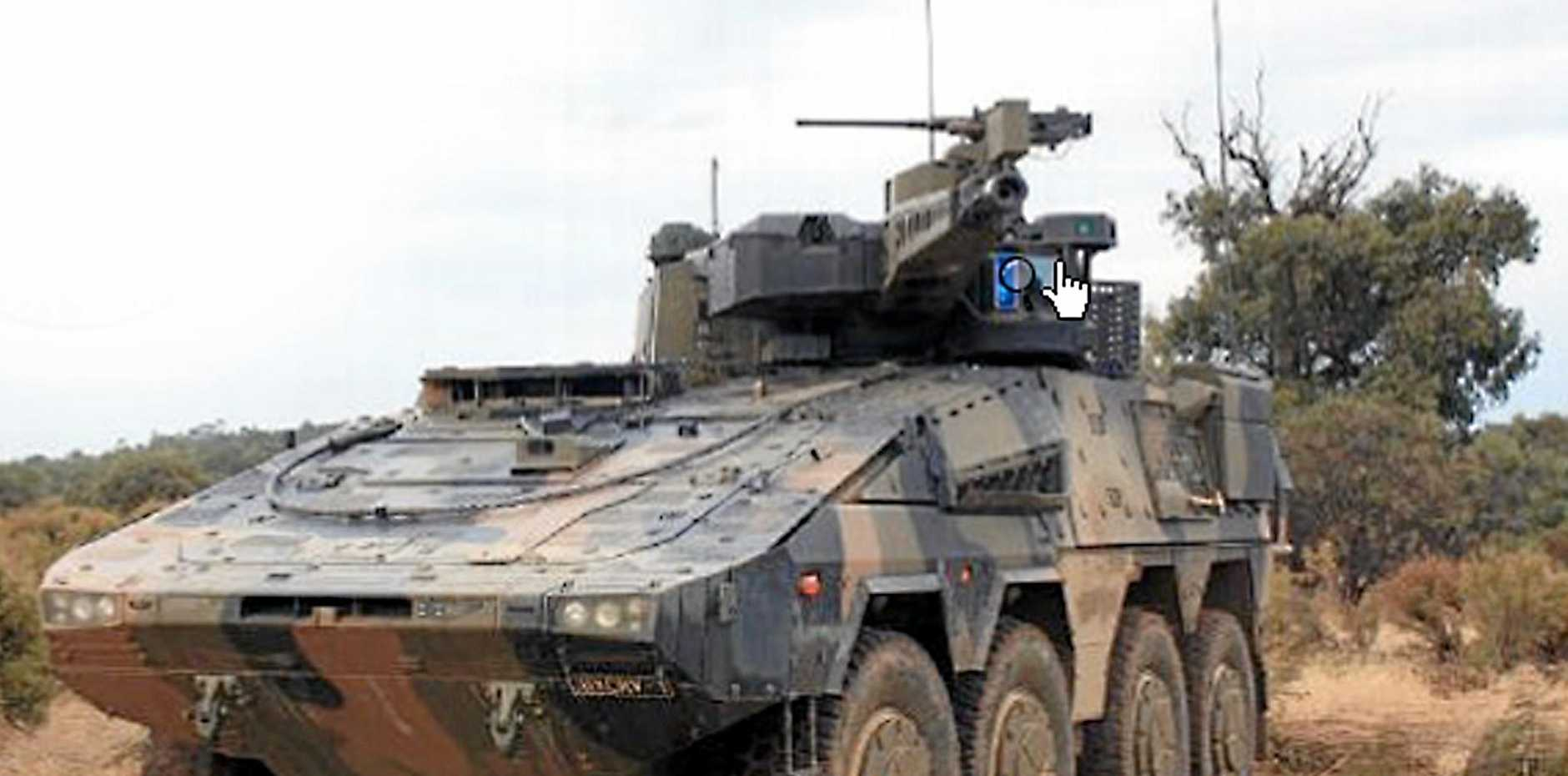 POWER: A BOXER CRV tank supplied by Rheinmetall. The German-based company has nominated Ipswich as the location where it will build Army tanks if it wins the $5 billion Land 400 tender.