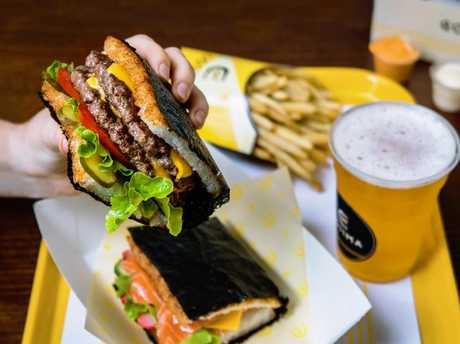 The Gojima cheeseburger at Gojima in Sydney.Source:Supplied