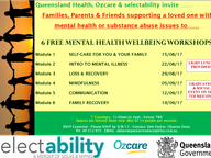 Series of 6 Mental Well-Being workshops for families and friends involved in the care of a loved one with mental and/or substance use issues.