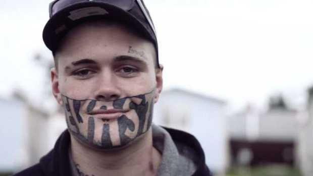 Mark Cropp says his face tattoo is holding him back from getting a job. Picture: NZ Herald