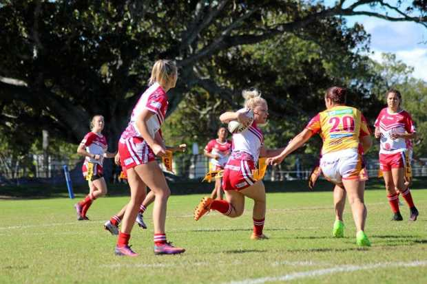 FULL FLIGHT: Action from the South Grafton Rebels and Coffs Harbour Comets ladies league tag game earlier this season.