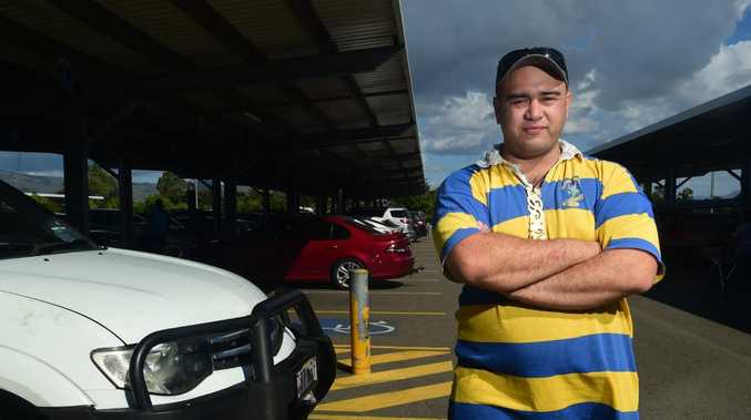 Taukiri Roberts, at the Thuringowa Village, is sick of being abused for parking in disabled parking bays for not looking disabled enough.