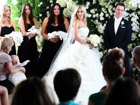 The first wedding of Roxy Jacenko and Oliver Curtis at Quay Restaurant in Sydney's Circular Quay.Source:News Limited