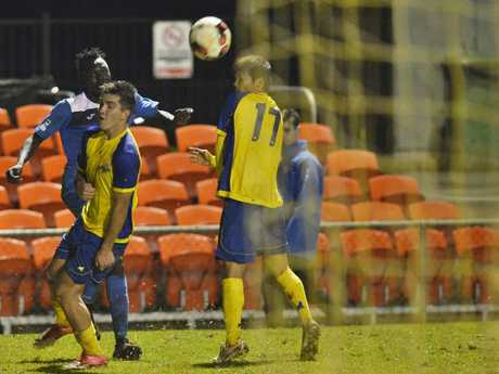 Majok Piok for South-West Thunder against Brisbane Strikers in NPL Queensland men round 18 football at Clive Berghofer Stadium, Saturday, July 15, 2017.