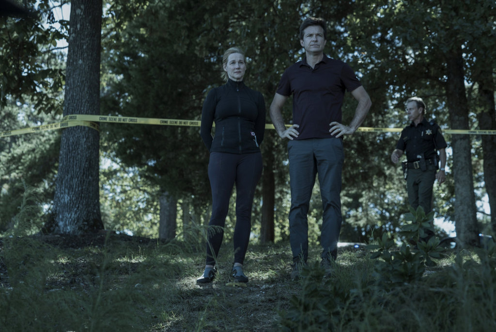 Laura Linney and Jason Bateman in a scene from the TV series Ozark.