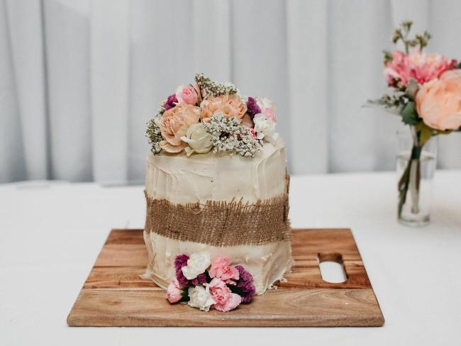Not bad for a Woolworths mud cake covered in icing and flowers. Source:Supplied