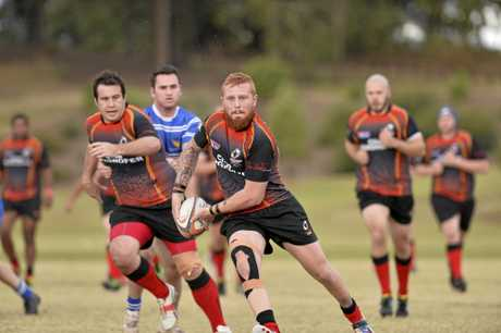 Wade Pistorius on the attack for Highfields against USQ in Saturday's round 15 Risdon Cup match at Highfields Sports Complex. USQ scored a 31-14 victory.