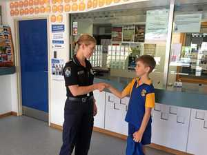 Bay student hands money to police in act of integrity