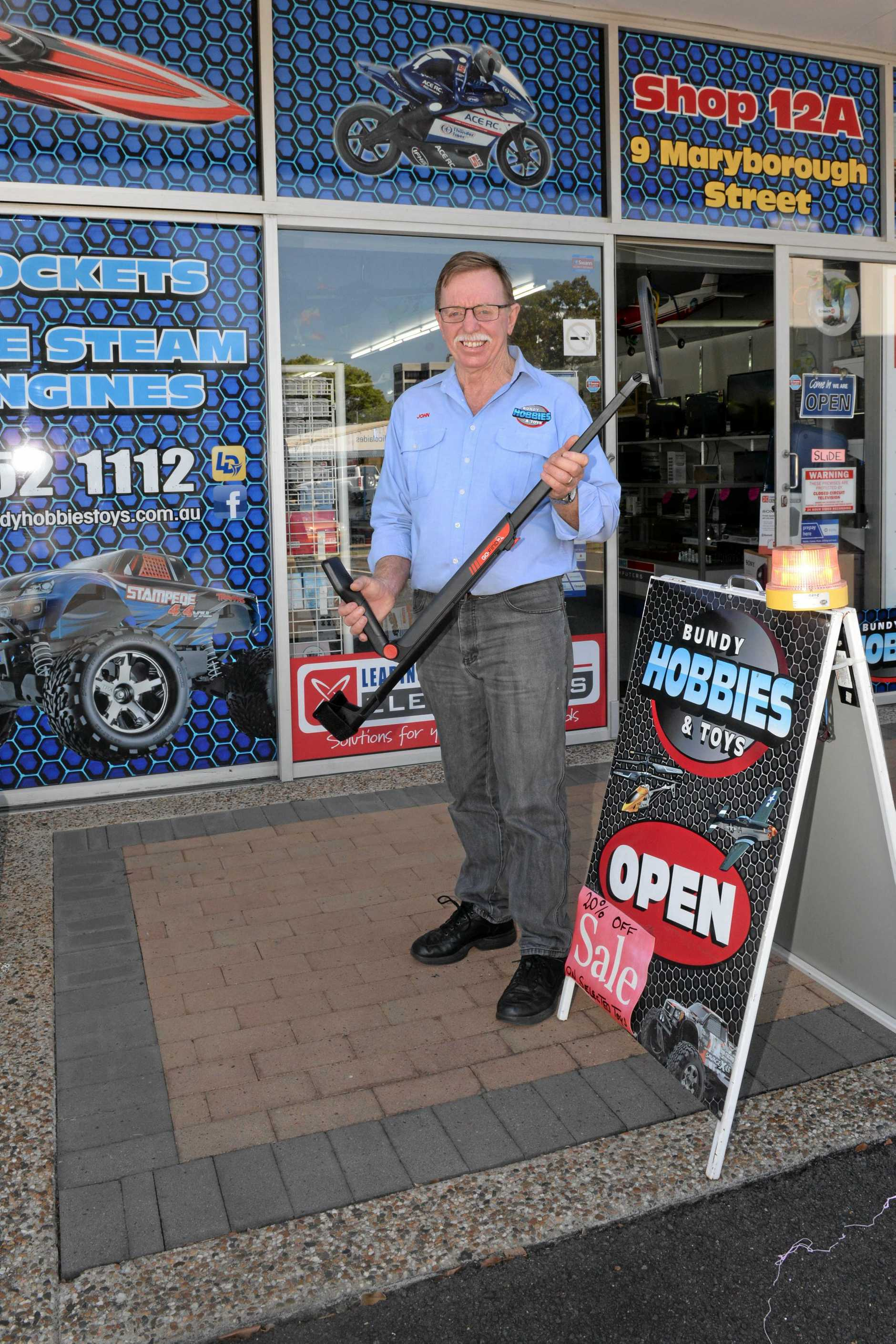 The hobby shop catered for a wide range of interests, from model trains to remote control cars, planes, boats, helicopters, plastic kits, slot cars, rockets, kites and hobby accessories.