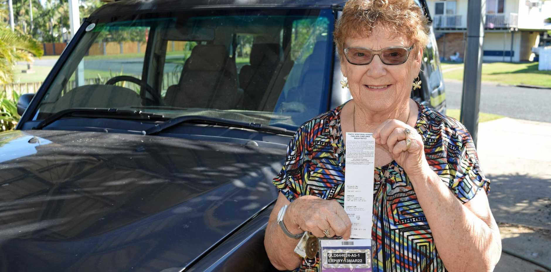 PARKING TICKET: Dawn Eastwell has  had her disability permit for 15 years and she has never had an issue.
