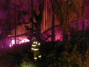 Fire destroys house near The Channon