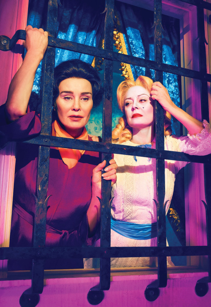 Jessica Lange and Susan Sarandon star in the TV series FEUD: Bette and Joan.