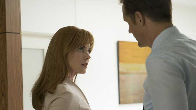 Nicole Kidman and Alexander Skarsgard in a scene from the TV series Big Little Lies.