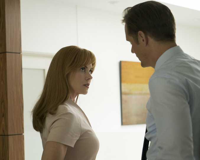 Nicole Kidman and Alexander Skarsgard in a scene from the TV series Big Little Lies.