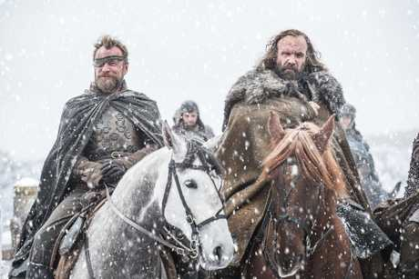 Richard Dormer and Rory McCann in a scene from season seven of Game of Thrones.