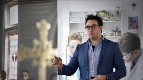 Author, James Phelan conducts workshops at St Mary's College. July 2017