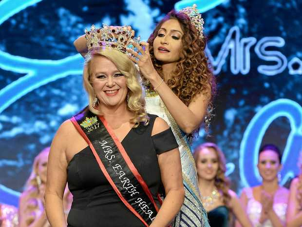 MRS EARTH HEALTH: Gold Coast dynamo Suzi Dent carries off a third place in the Mrs Earth Health 2017.