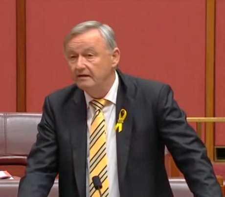 Senator Gallacher speaks on road safety in parliament.