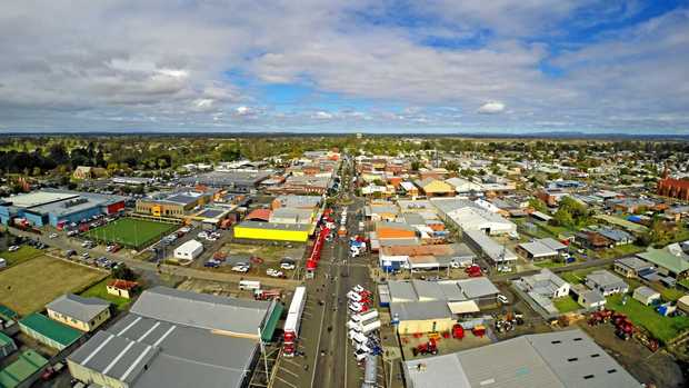 Drone shot of the 2016 Casino Truck Show.