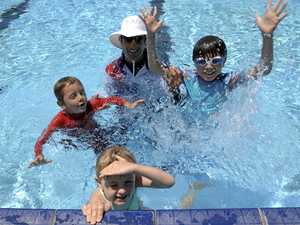 WATER WORKS: Mullumbimby pool is being repaired ready for the school holidays in September.