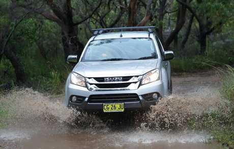 4WD owner Jasmine Rulli pictured with her 2015 Isuzu MU-X. Picture: Adam Ward