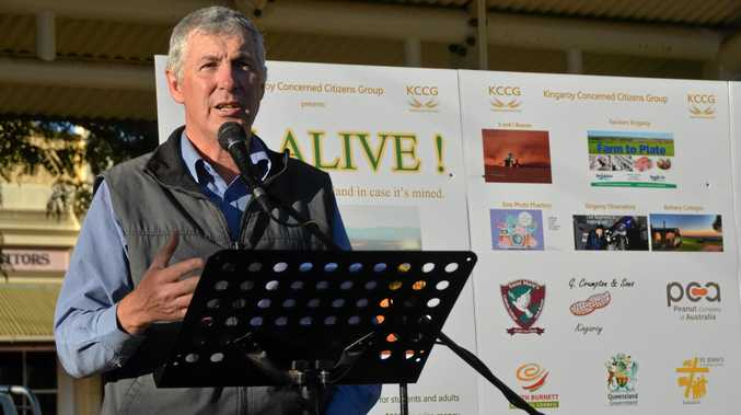 LAUNCH: John Dalton from Kingaroy Concerned Citizen's Group launches 385 alive.