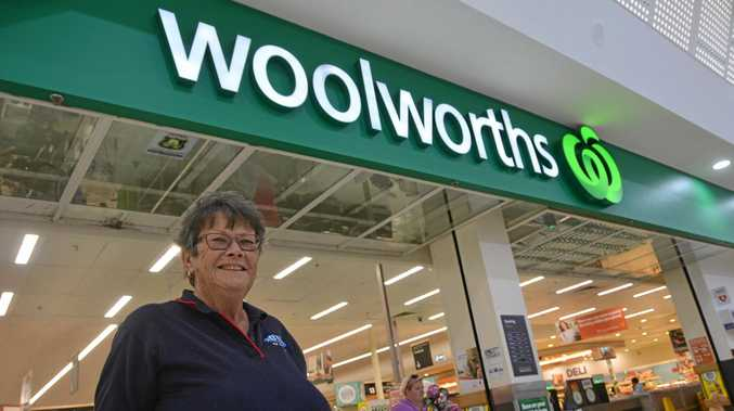 HAPPY SHOPPER: Kingaroy resident Jennifer Watts welcomed the news of the Woolworths plastic bag ban.