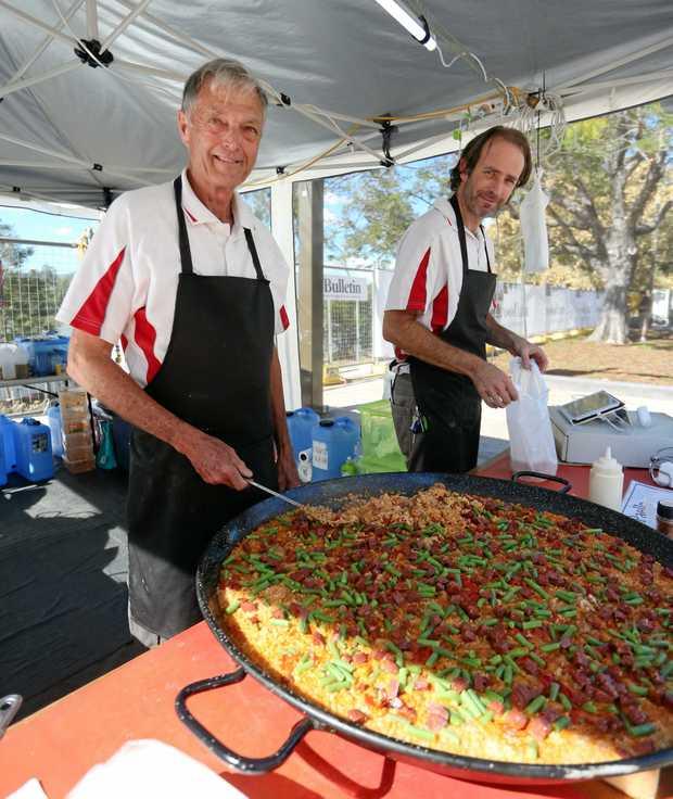 RIVER FEST: Paella Magic's John Williams and Stuart Williams have done a roaring tradie.