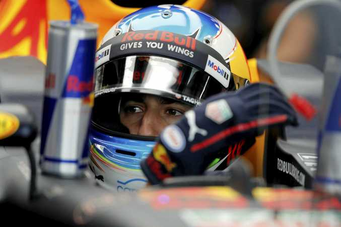 GOOD EFFORT: Red Bull driver Daniel Ricciardo prepares for racing. Ricciardo's post-race interview proved to be very entertaining for race fans.