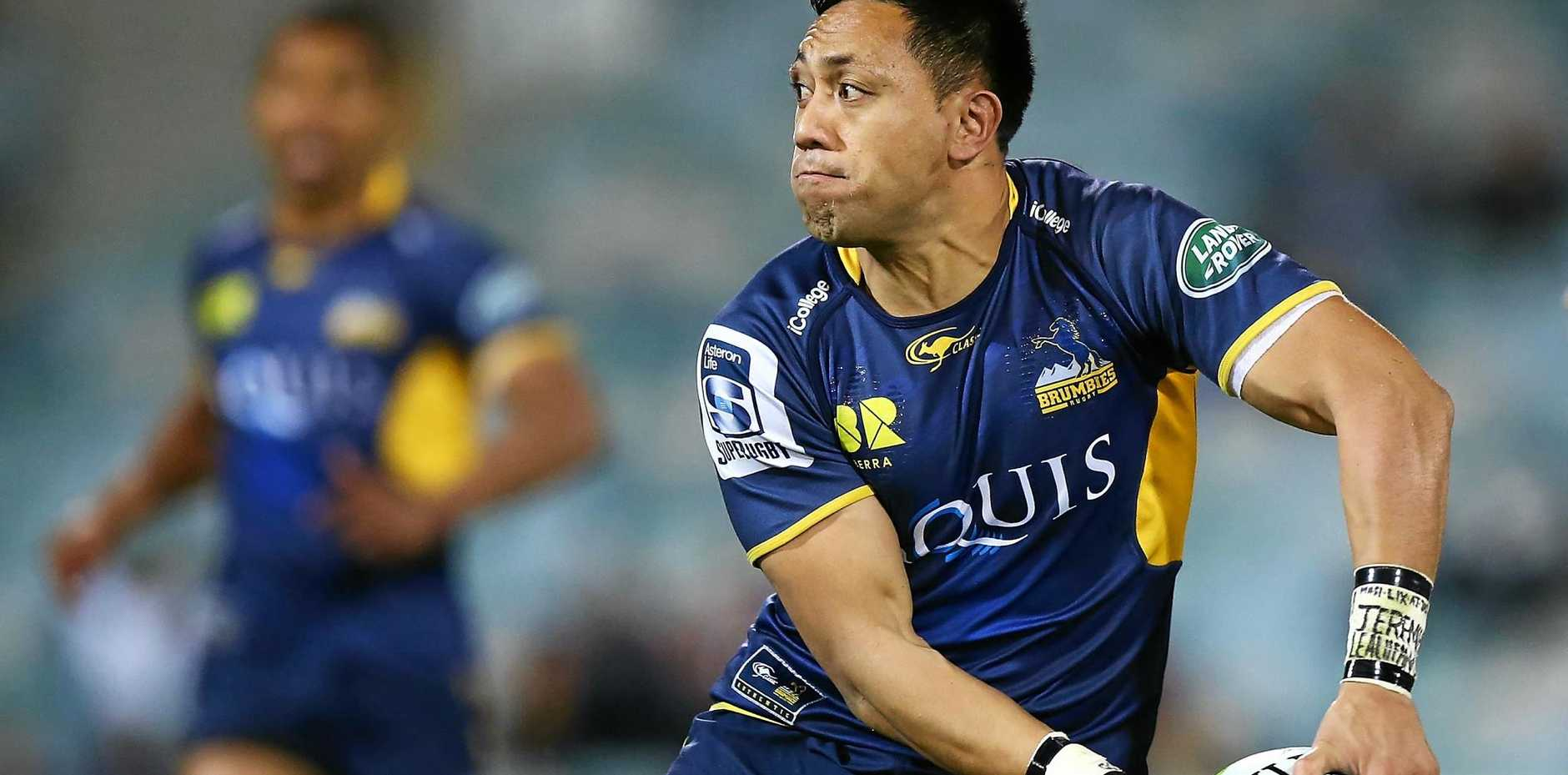 BIG RETURN: A year after he was diagnosed with leukaemia Christian Lealiifano could make his Brumbies return against the Hurricanes in the Super Rugby quarter-final.