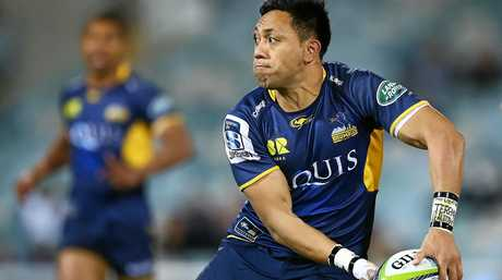 Christian Lealiifano in action before he was diagnosed with leukemia.