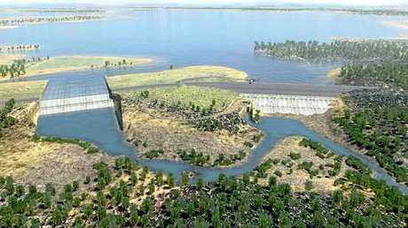 An artists impression of the proposed Nathan Dam Photo Contributed