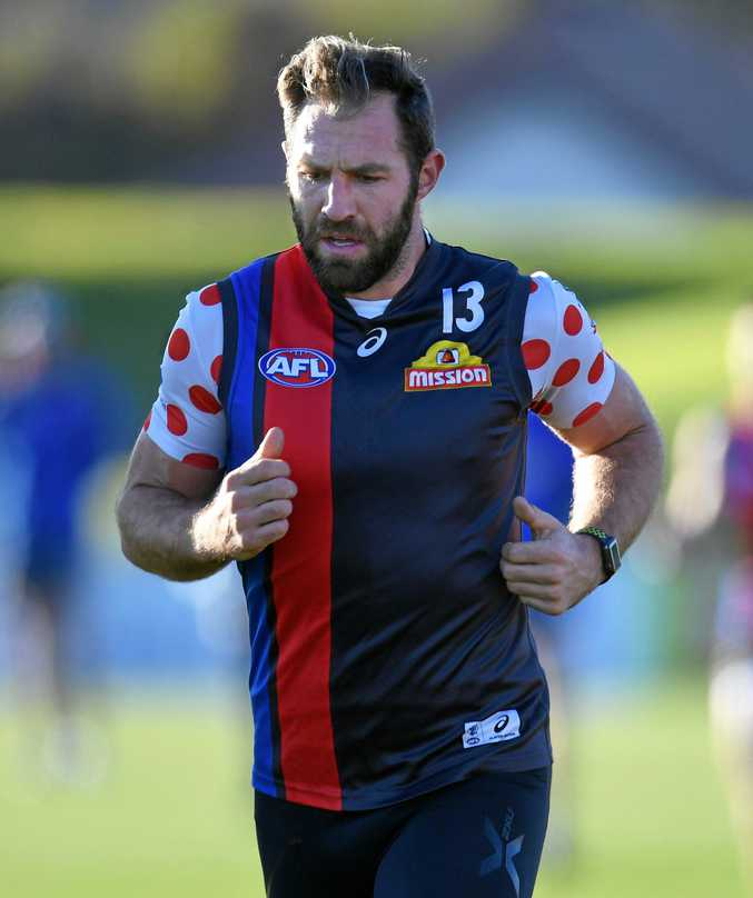 ROAD TO RECOVERY: Western Bulldogs player Travis Cloke trains at Whitten Oval in Melbourne. After a four week break to address mental health issues Cloke may line up for the Dogs this weekend.