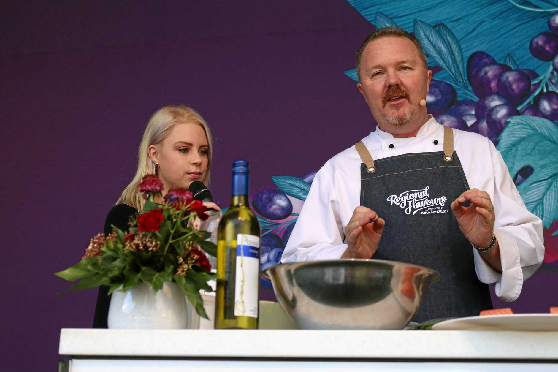 FLAVOUR ON SHOW: South Burnett chef Jason Ford on the Queensland Taste stage at Regional Flavours in Brisbane.