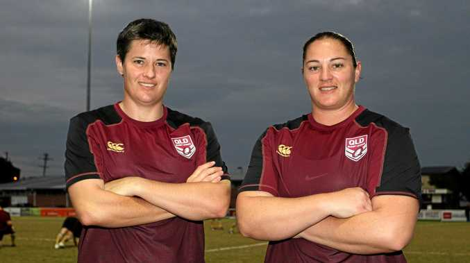 SOUTHERN DOWNS STARS: Queensland representatives Heather Ballinger and Stephanie Hancock.