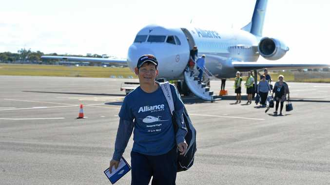 Alliance airlines lands in Bundaberg for the first time.