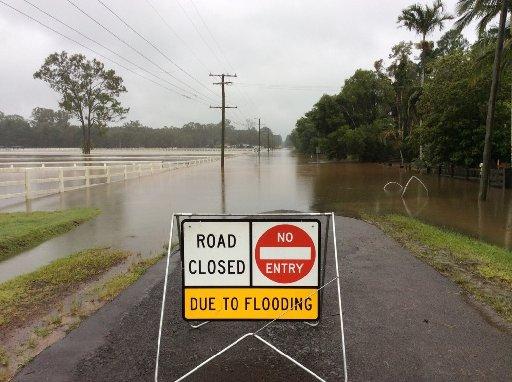 Flooding on the Sunshine Coast.