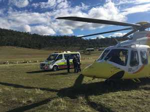 Rider airlifted after motocross mishap
