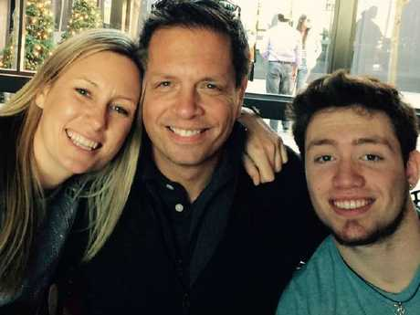 Justine Damond pictured with her fiance Don Damond and stepson Zach.
