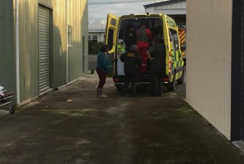 The man was taken to Waikato Hospital in a serious condition.