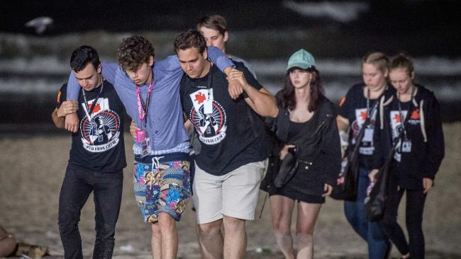 Schoolies flock to Surfers Paradise to celebrate the end of high school every year. Picture: Jake Nowakowski
