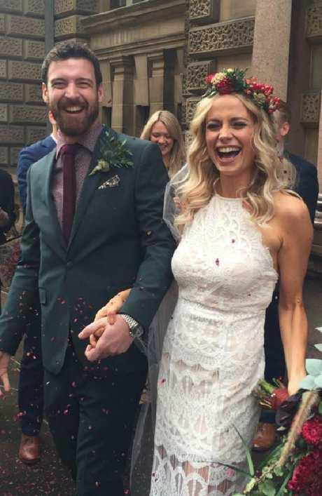 Emilyrose Fitzpatrick spend just $1600 on her wedding. Picture: Facebook/Emilyrose Fitzpatrick