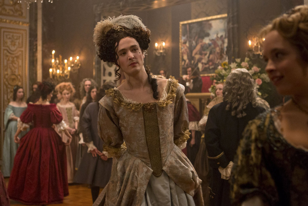 Alexander Vlahos in a scene from season two of the TV series Versailles.