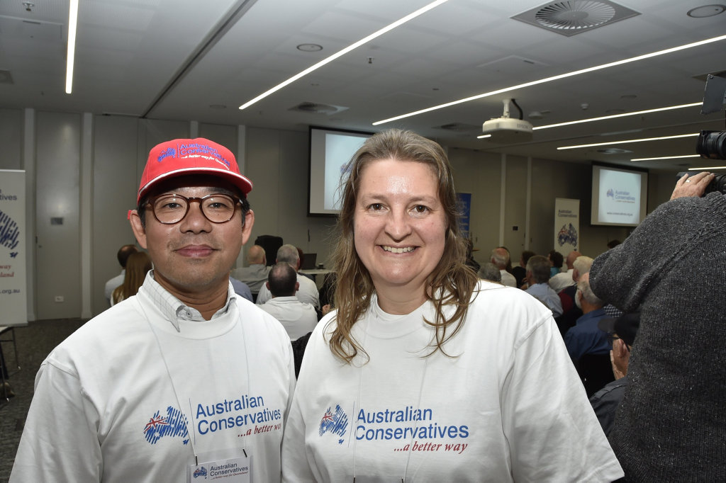 Andrew Yong and Alex Todd at meeting with Australian Conservatives, Cory Bernardi in Toowoomba. July 2017