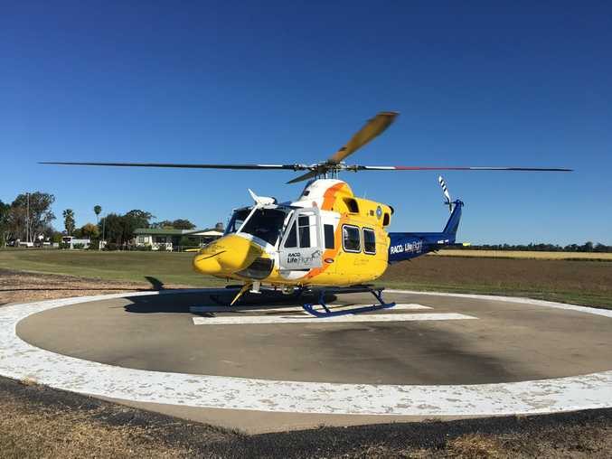 The Toowoomba-based RACQ LifeFlight Rescue helicopter has airlifted a 19-year-old man.
